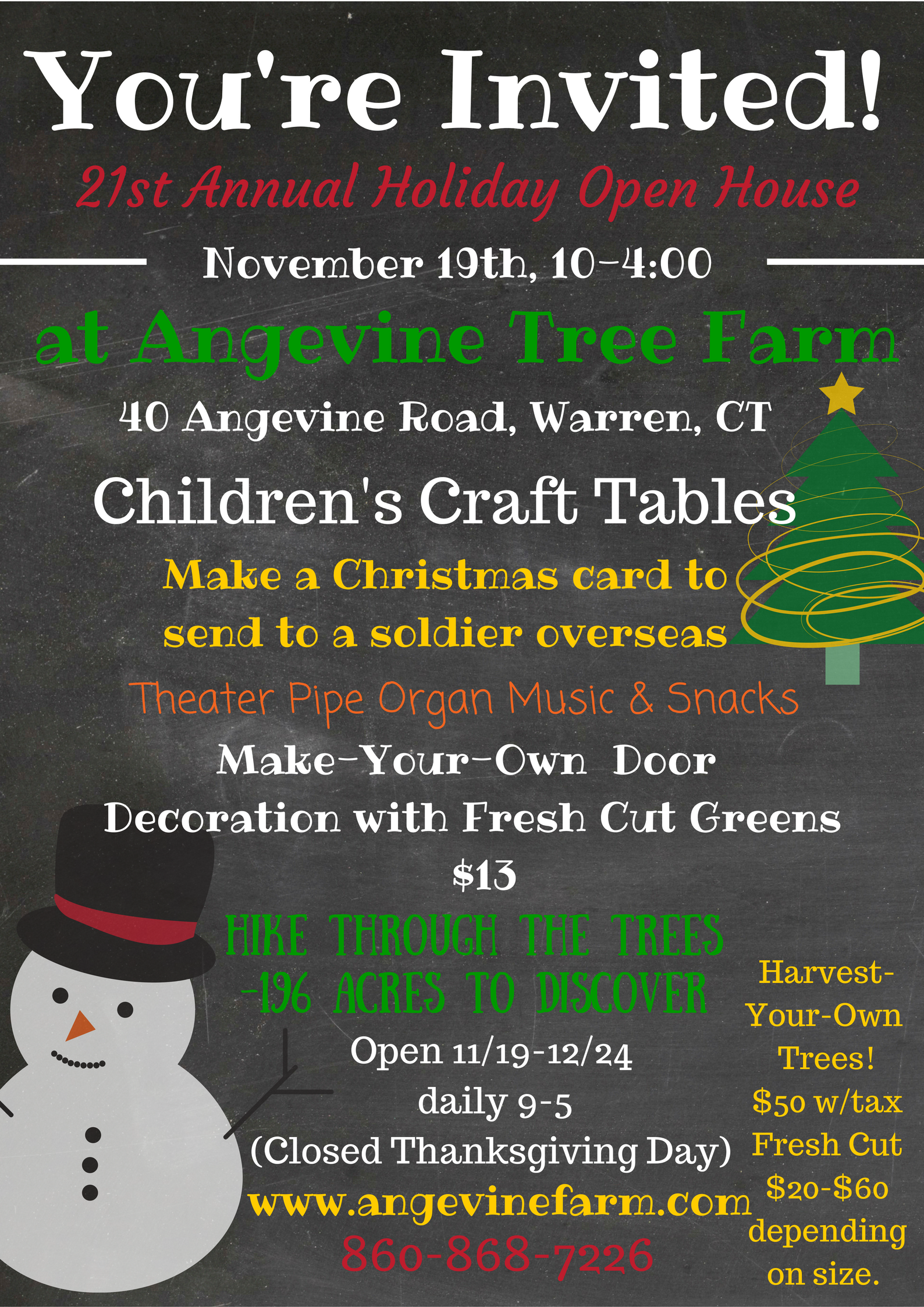 21st Annual Holiday Open House Angevine Farm