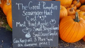 The Great Pumpkin Scavenger Hunt @ Angevine Farm