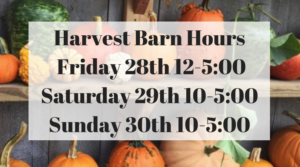Harvest Barn Open