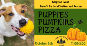 Puppies, Pumpkins & Pizza