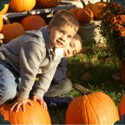 Kids love their pumpkins!